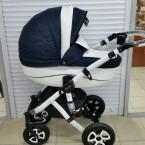 Детская коляска Adamex Barletta (50% кожа 3в1)