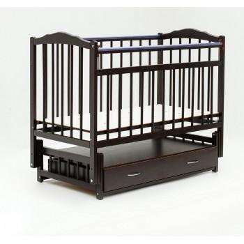 Кроватка Бамбини (темный орех) Маятник + ящик