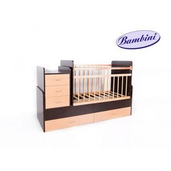 Кроватка-трансформер BAMBINI  № 01 (все расцветки)